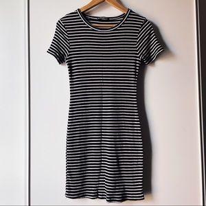 Brandy Melville black white striped t-shirt dress